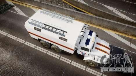 Урал 4320 МЧС для GTA 4 вид справа
