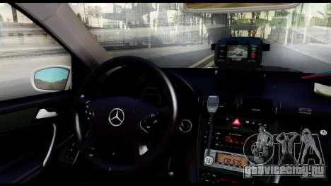 Mercedes-Benz C32 AMG ДПС для GTA San Andreas вид сзади