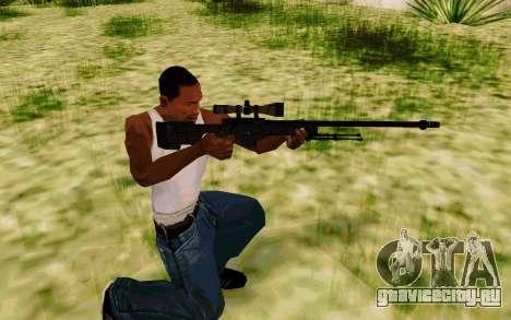 AWP L96А1 (Dodgers) для GTA San Andreas третий скриншот