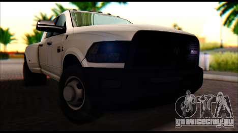 Dodge Ram 3500 Heavy Duty для GTA San Andreas вид справа