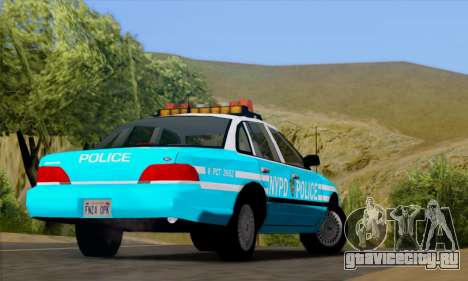 Ford Crown Victoria NYPD Blue для GTA San Andreas вид сзади