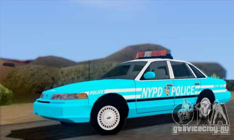 Ford Crown Victoria NYPD Blue для GTA San Andreas
