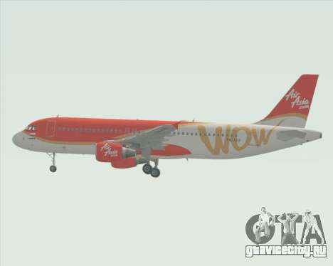 Airbus A320-200 Indonesia AirAsia WOW Livery для GTA San Andreas вид изнутри