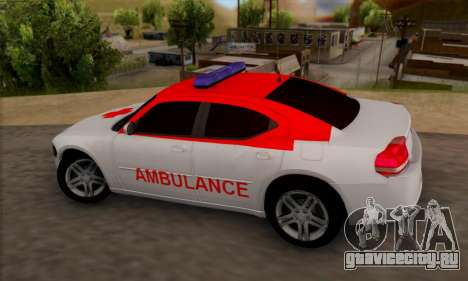 Dodgle Charger Ambulance для GTA San Andreas вид слева