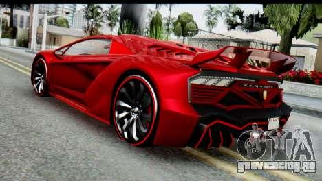 GTA 5 Pegassi Zentorno для GTA San Andreas вид слева