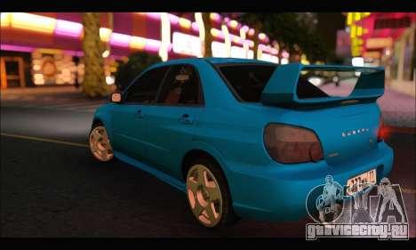 Subaru Impreza WRX STI Tuning для GTA San Andreas вид справа