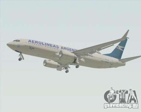 Boeing 737-800 Aerolineas Argentinas для GTA San Andreas вид сзади слева