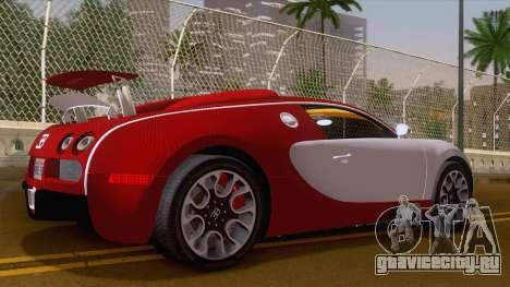 Bugatti Veyron Grand Sport Sang Bleu 2008 для GTA San Andreas вид сзади слева