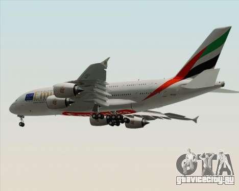 Airbus A380-800 Emirates (A6-EDJ) для GTA San Andreas вид сзади