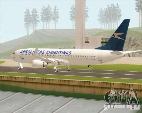Boeing 737-800 Aerolineas Argentinas для GTA San Andreas вид справа