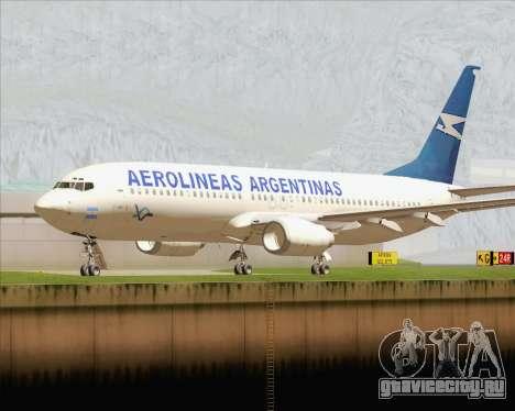 Boeing 737-800 Aerolineas Argentinas для GTA San Andreas вид слева