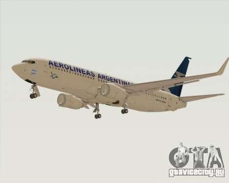 Boeing 737-800 Aerolineas Argentinas для GTA San Andreas вид сзади