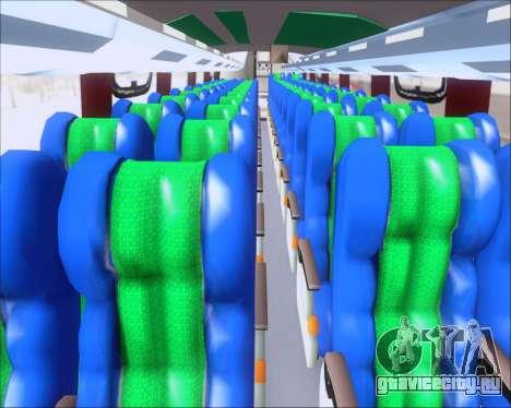 Busscar Vissta Buss LO Palmeiras для GTA San Andreas вид изнутри