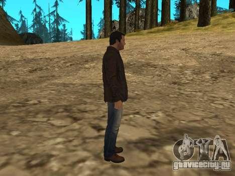 Майкл из GTA 5 в кожаной куртке для GTA San Andreas четвёртый скриншот