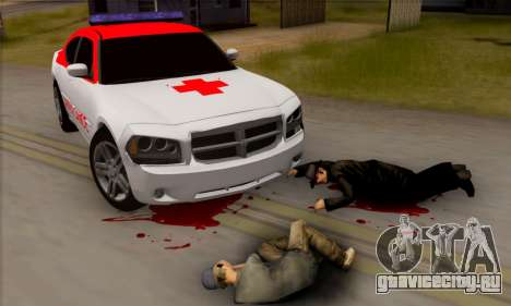 Dodgle Charger Ambulance для GTA San Andreas вид сзади слева