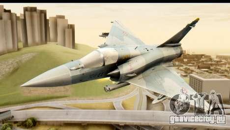 Dassault Mirage 2000-5 для GTA San Andreas вид сзади