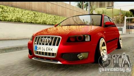 Audi S3 2007 Camber Edit для GTA San Andreas