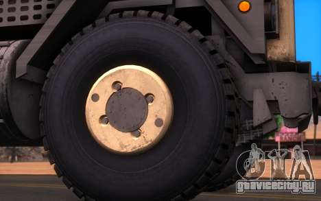 Oshkosh M1070 HET Tank Transporter для GTA San Andreas вид сзади слева