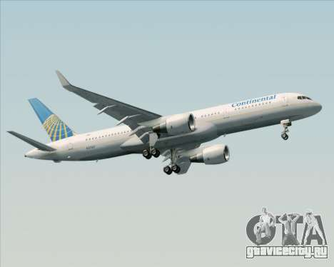 Boeing 757-200 Continental Airlines для GTA San Andreas вид изнутри