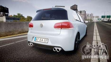 Volkswagen Golf R для GTA 4 вид сзади слева