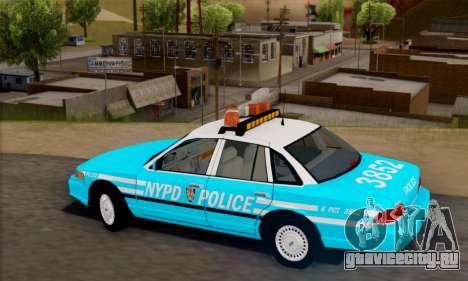 Ford Crown Victoria NYPD Blue для GTA San Andreas вид слева