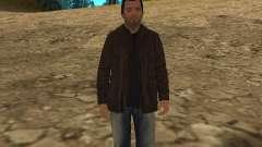 Майкл из GTA 5 в кожаной куртке