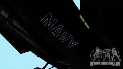 F-14 Black Storm для GTA San Andreas вид сзади слева