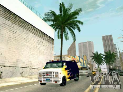 GMC The A-Team Van для GTA San Andreas вид сзади