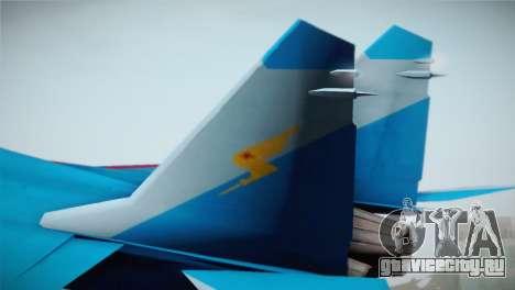 MIG-29 Russian Falcon для GTA San Andreas вид сзади слева