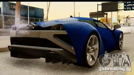 Marussia B2 для GTA San Andreas вид слева