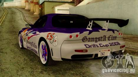 Mazda RX-7 Gangsta Club для GTA San Andreas вид слева