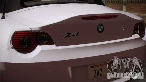 BMW Z4 V10 IVF для GTA San Andreas вид справа