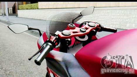 Kawasaki Ninja 250 Fi для GTA San Andreas вид сзади слева