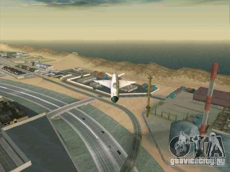 МиГ 21 для GTA San Andreas вид сзади слева
