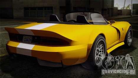 GTA 5 Invetero Coquette SA Mobile для GTA San Andreas вид сзади слева