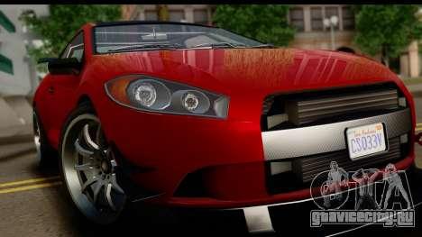 GTA 5 Maibatsu Penumbra IVF для GTA San Andreas вид сзади