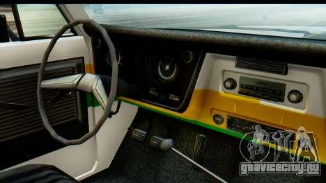 Chevrolet C10 Patrulla для GTA San Andreas вид сзади