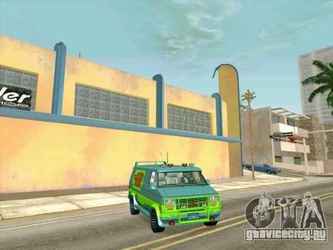 GMC The A-Team Van для GTA San Andreas вид справа