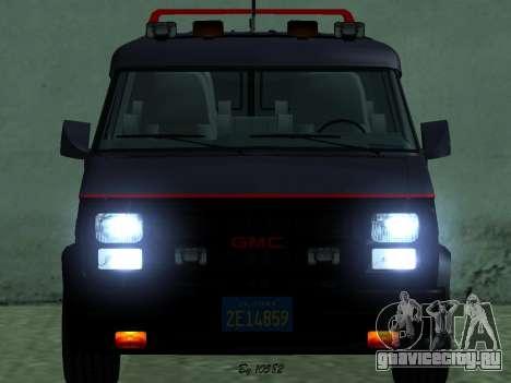 GMC The A-Team Van для GTA San Andreas вид сзади слева