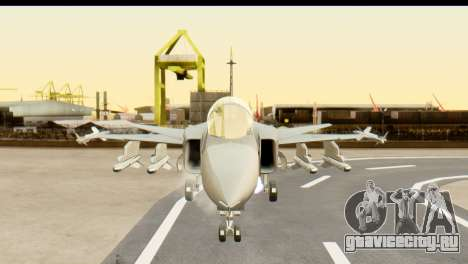 Saab Gripen NG для GTA San Andreas вид сзади