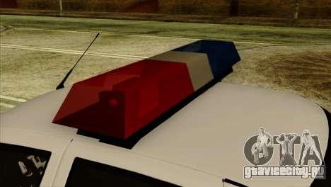 Lada Priora 2170 Полиция ДПС Москва для GTA San Andreas вид справа