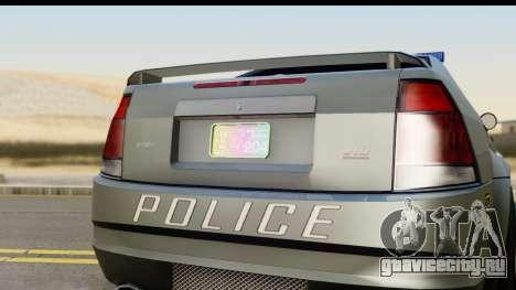 EFLC TBoGT Albany Police Stinger SA Mobile для GTA San Andreas вид сзади слева