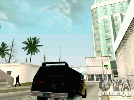 GMC The A-Team Van для GTA San Andreas вид изнутри