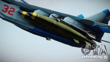 MIG-29 Russian Falcon для GTA San Andreas вид справа