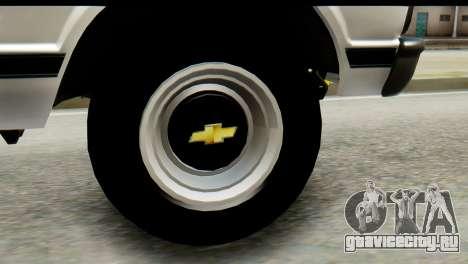 Chevrolet C10 Patrulla для GTA San Andreas вид сзади слева