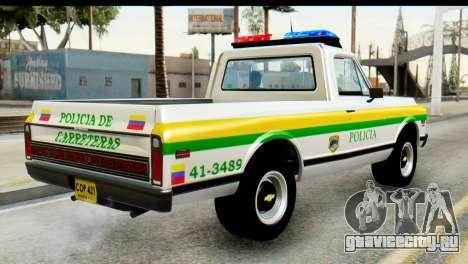 Chevrolet C10 Patrulla для GTA San Andreas вид слева
