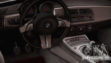 BMW Z4 V10 IVF для GTA San Andreas вид сзади