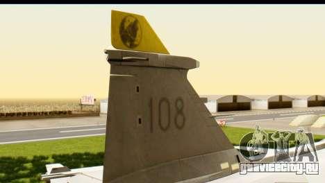 Saab Gripen NG для GTA San Andreas вид сзади слева