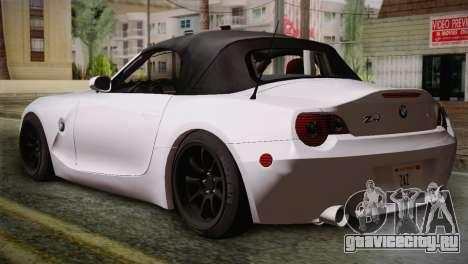 BMW Z4 V10 IVF для GTA San Andreas вид слева