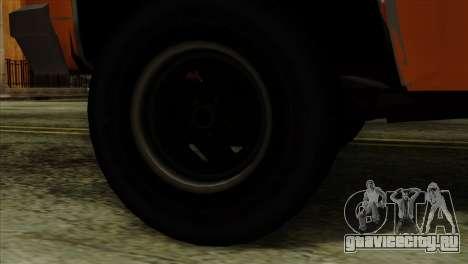 Chevrolet Custom Deluxe для GTA San Andreas вид сзади слева